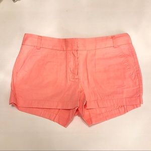 NWOT Size 8 J.Crew Bright Coral Chino Shorts